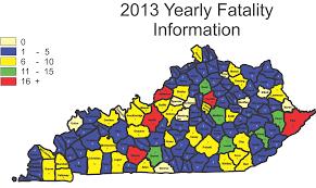 County Map Kentucky Kentucky State Police 2013 Kentucky Highway Fatalities