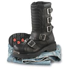 motorcycle shoes with lights men u0027s harley davidson side light boots black 62495 casual