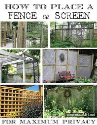 Fence Ideas For Patio 90 Best Natural Privacy And Diy Fences Images On Pinterest Fence