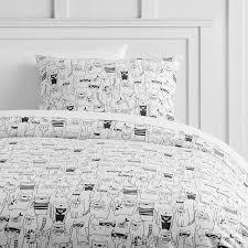 Pure Cotton Duvet Covers Black White Duvet Cover Sham
