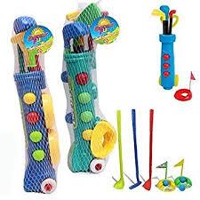 Club Summer Garden - kids plastic golf club toy cart caddy set balls bag summer garden