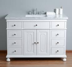 stufurhome abigail embellished 48 inches white single sink