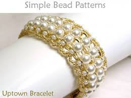 beaded chain bracelet images Pearl bracelet diy beading pattern beaded chain bracelet tutorial jpg