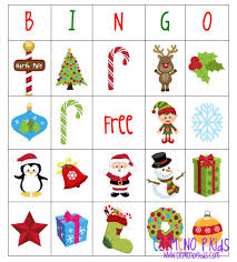 christmas bingo printables u2013 happy holidays