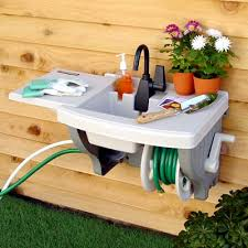 Wall Mounted Outdoor Sink With Hose Reel Gardening Pinterest - Simply kitchen sinks
