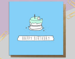 birthday cake card etsy