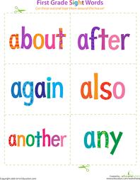 grade sight word flash cards printable printable 1st grade sight word flashcards education