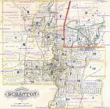 Pennsylvania Map Cities by 1877 Atlas City Of Scranton Pennsylvania