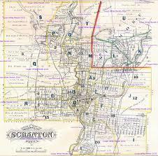 Pennsylvania Cities Map by 1877 Atlas City Of Scranton Pennsylvania