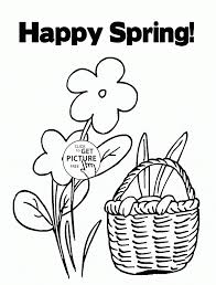 spring around coloring page for kids seasons pages spring