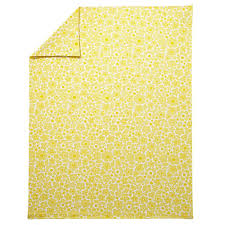 full queen go lightly floral duvet cover yellow the land of nod