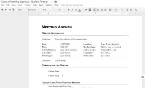 templates for business agenda google docs agenda template 2ndworldmarketing com
