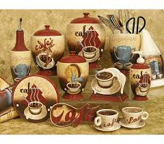 themed kitchen canisters impressive creative coffee themed kitchen decor captivating