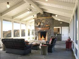 fireplace on screened porch enclosed screen porch elegantly