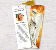 memorial bookmarks laminated memorial funeral bookmarks keepsakes with custom