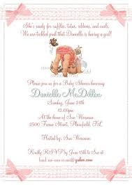 ruffle baby shower invitation