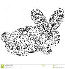 zentangle bunny outline stock vector image 55733553