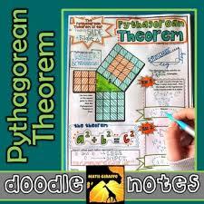 pythagorean theorem doodle notes by math giraffe tpt