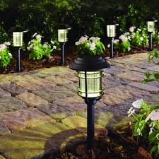 9 hampton bay black solar led pathway outdoor light 6 pack