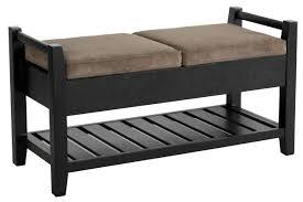 amazing espresso finish 2 drawer storage bench bedroom storage