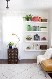 Living Room Wall Shelving by Best 25 Bedroom Wall Shelves Ideas On Pinterest Wall Shelves