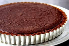 dark chocolate tart with gingersnap crust u2013 smitten kitchen