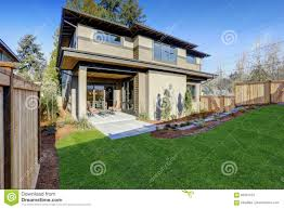 luxury new construction home with open floor plan stock photo