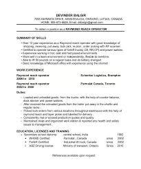 forklift operator resume examples carpinteria rural friedrich