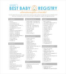 bridal shower registry checklist baby registry checklist template business