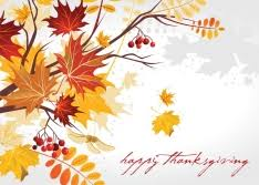 thanksgiving greeting card designs with leaves