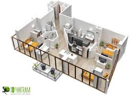 Floor Plan For Residential House 3d Floor Plan Design Interactive 3d Floor Plan Yantram Studio