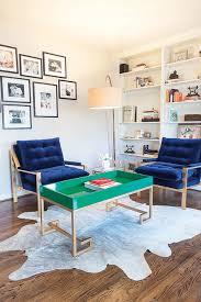 Royal Blue And White Rug Royal Blue Chairs Contemporary Living Room Martha O U0027hara