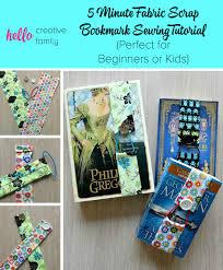 5 minute fabric scrap bookmark sewing tutorial