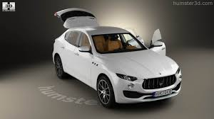 maserati interior 2017 360 view of maserati levante with hq interior 2017 3d model