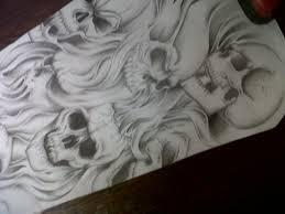 skull sleeve design by tattoosuzette on deviantart