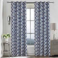 White And Blue Curtains Navy Blue Curtains For Bedroom Anady 2 Panel Room