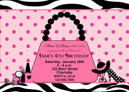 dress invitations dress up party birthday invitation glamour party purse