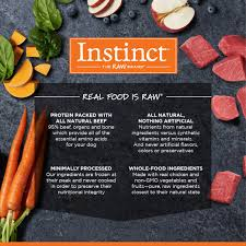 instinct raw frozen medallions all natural beef recipe instinct