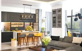 plan de cuisine ouverte sur salle à manger emejing cuisine ouverte sur salle a manger images design trends
