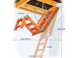 wooden attic ladder folding stairs steps heavy duty garage heavy