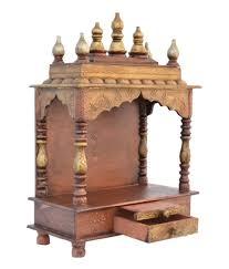 shilpi handcrafted wall mounted temple and wall shelf in sheesham pooja mandap shree krishna handicrafts and gallery maa