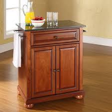 kitchen island black granite top darby home co pottstown solid black granite top portable kitchen