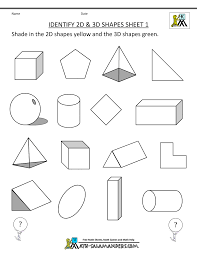 First Grade Math Worksheets Free Printable Geometry Worksheets