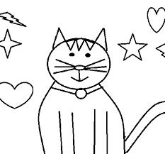 imágenes de gatos fáciles para dibujar dibujo de gato con estrellas para colorear dibujos net
