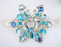 frozen headband headband snowflake tiara snow frozen steunk crystals