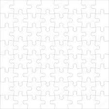 beautiful seamless wallpaper with jigsaw puzzle u2014 stock photo
