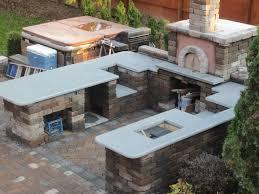 appliance outdoor kitchen brick stonework brings a balance of