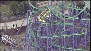 Six Flags Highest Ride 24 Riders Rescued From Stuck Roller Coaster At Maryland Six Flags