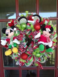 disney merry christmas mickey and minnie mouse deco mesh door