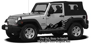 jeep burgundy 2017 jeep wrangler mountain range body side graphics kit 2007 2017